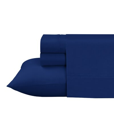 Roulier 300 Thread Count Sheet Set Size: Full, Color: Navy
