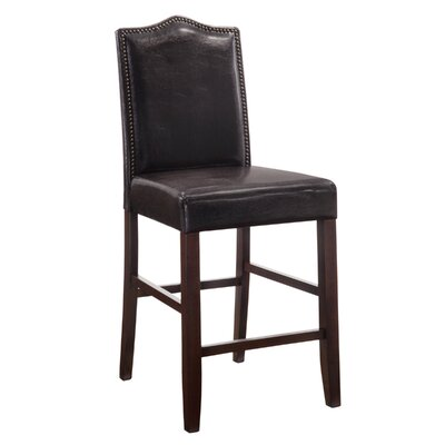 Simoneaux 25 inch Bar Stool Upholstery: Espresso