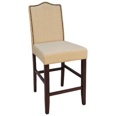 Simoneaux 25 Bar Stool Upholstery: Cream