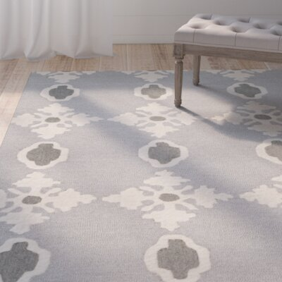 Lincolnton Hand-Tufted Cool Grey Area Rug