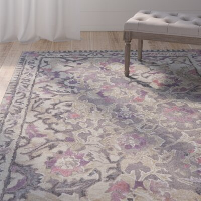 Harrison Hand Tufted Wisteria Area Rug Rug Size: 5 x 8