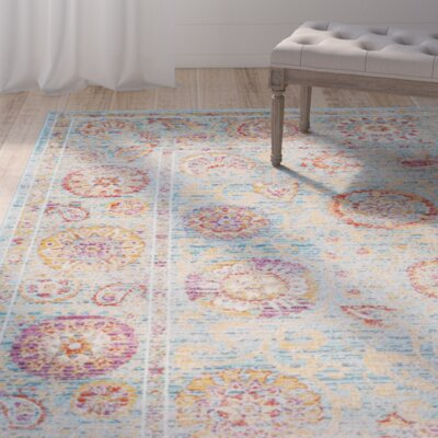 Shady Dale Light Blue Area Rug Rug Size: Rectangle 4 x 57