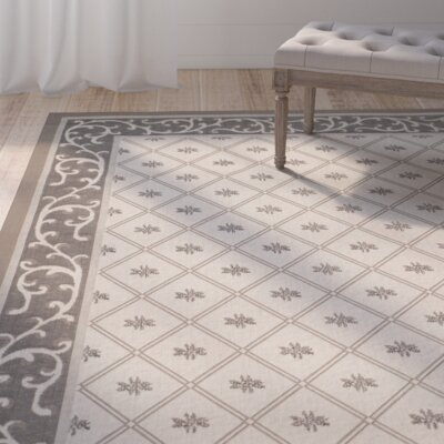 Rhine Beige/Dark Indoor/Outdoor Area Rug Rug Size: Runner 23 x 67
