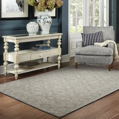 Herm�nia Hand-Tufted Gray Area Rug Rug Size: Rectangle 36 x 56