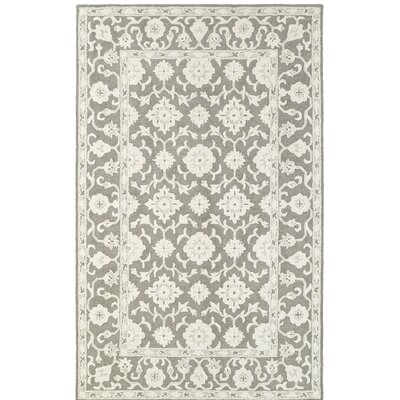 Theroux Hand-Tufted Oriental Gray Area Rug Rug Size: 36 x 56