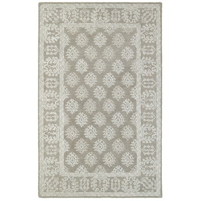 Sirois Hand-Tufted Oriental Gray/Beige Area Rug Rug Size: 36 x 56