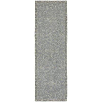 Sirois Hand-Tufted Medallion Gray/Blue Area Rug Rug Size: Runner 25 x 8