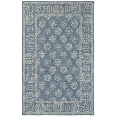 Sirois  Hand-Tufted Oriental Blue/Gray Area Rug Rug Size: Rectangle 36 x 56