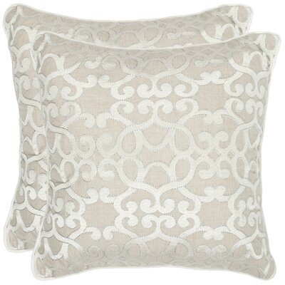 Nantes Linen Throw Pillow Size: 18 H x 18 W