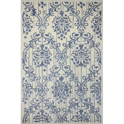 Izora Hand-Tufted Ivory Area Rug Rug Size: Rectangle 79 x 99