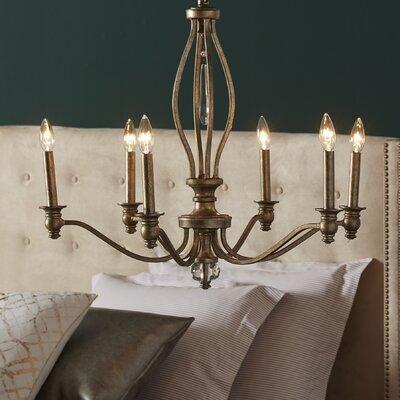 Yacine 6-Light Candle-Style Chandelier