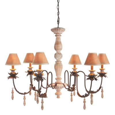Menton 6-Light Shaded Chandelier