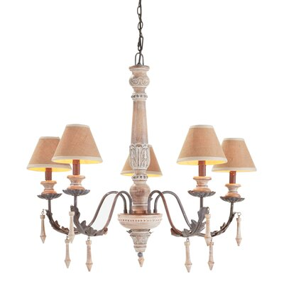 Picardy 5-Light Shaded Chandelier