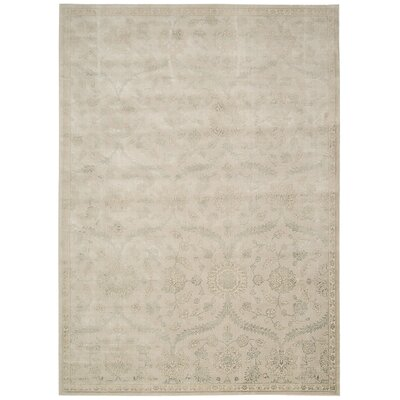 Bourgault Cream Area Rug Rug Size: 53 x 75