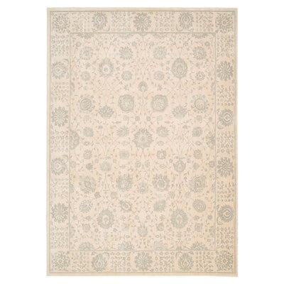 Bourgault Cream Area Rug Rug Size: 93 x 129