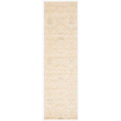 Bourgault Cream Rug Rug Size: Runner 23 x 8