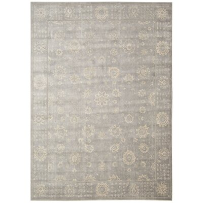 Bourgault Ironstone Area Rug Rug Size: 93 x 129
