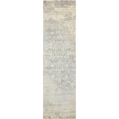 Bourgault Silver Area Rug Rug Size: Runner 23 x 8