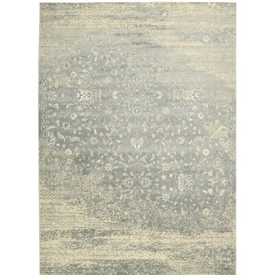 Bourgault Silver Area Rug Rug Size: 53 x 75