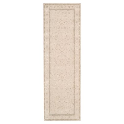 Deslauriers Ivory Area Rug Rug Size: Runner 23 x 8