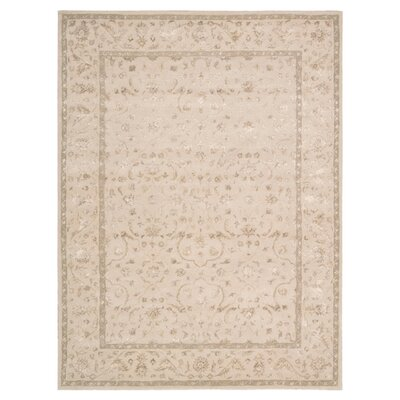 Deslauriers Ivory Area Rug Rug Size: 56 x 75