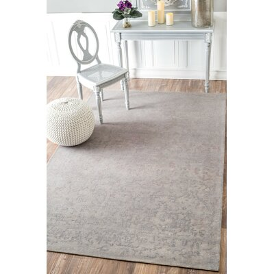 Argent Hand-Tufted Cream Area Rug Rug Size: 76 x 96