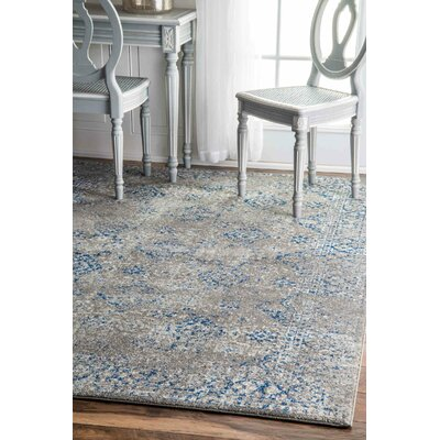 Avallon Faded Dark Blue Area Rug Rug Size: Runner 28 x 8