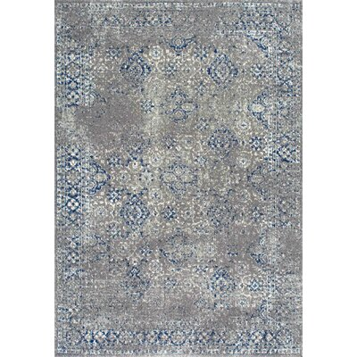 Avallon Faded Dark Blue Area Rug Rug Size: 5 x 75