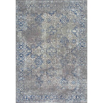 Avallon Faded Dark Blue Area Rug Rug Size: 8 x 10