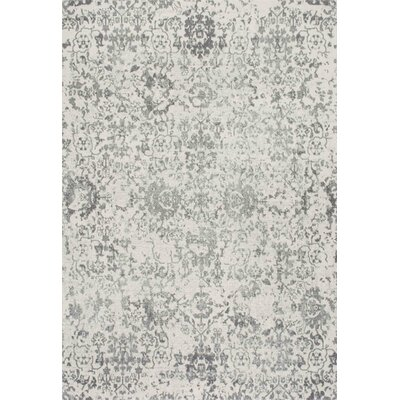 Duclair Faded Gray Area Rug Rug Size: 9 x 12