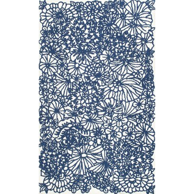 Espere Hand-Hooked Blue Area Rug Rug Size: 76 x 96