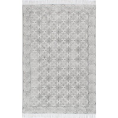 Cambridge Handmade Off White Area Rug Rug Size: 86 x 116