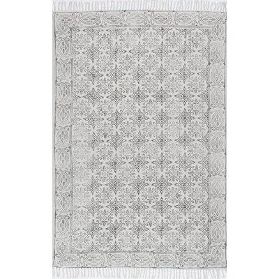 Cambridge Handmade Off White Area Rug Rug Size: 76 x 96