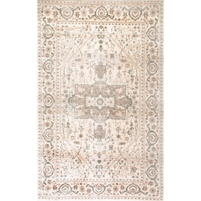 Kawartha Beige Area Rug Rug Size: Rectangle 52 x 8