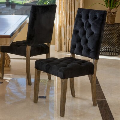 Coulonge Side Chair Upholstery: Black
