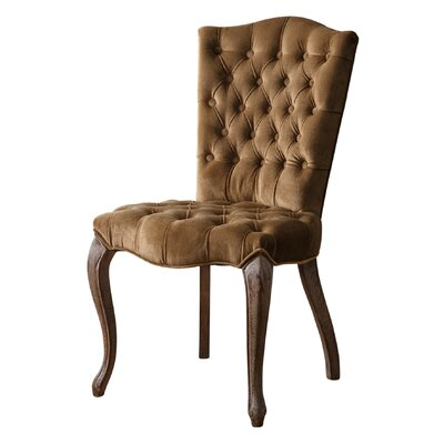 Maria Upholstered Dining Chair Upholstery: Coffee Brown