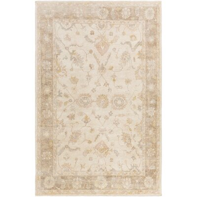 Loire Hand-Knotted Ivory Area Rug Rug size: 4 x 6