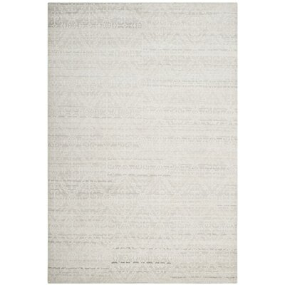 Alter Hand-Knotted Gray Area Rug Rug Size: 9 x 12