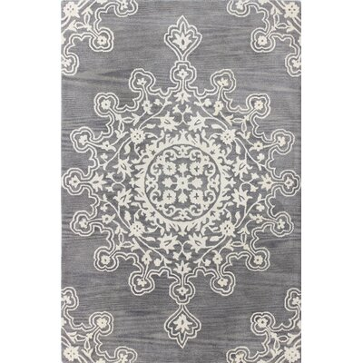 Benard Hand-Tufted Grey Area Rug Rug Size: 86 x 116
