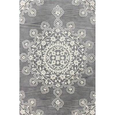 Amaya Hand-Tufted Grey Area Rug Rug Size: 5' x 7'6