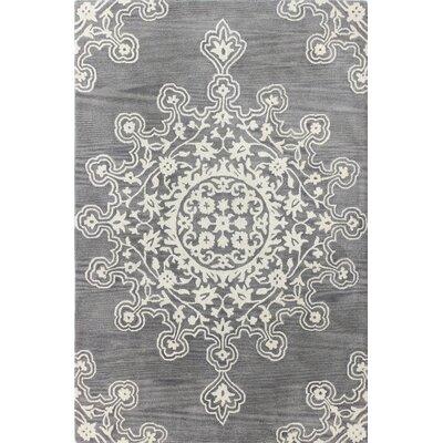 Amaya Hand-Tufted Grey Area Rug Rug Size: 7'6