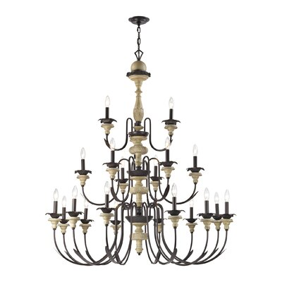 Lille 21-Light Candle-Style Chandelier