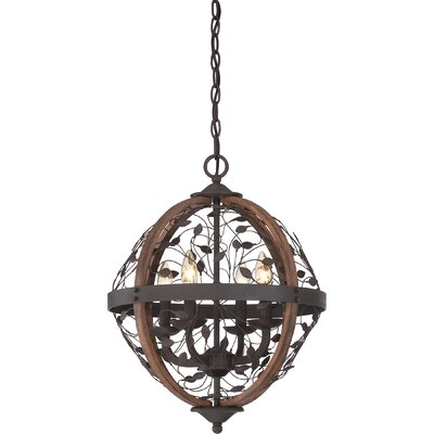 Campeaux 4-Light Globe Pendant