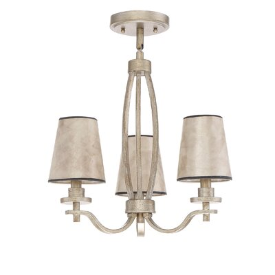 Chateau 3-Light Shaded Chandelier