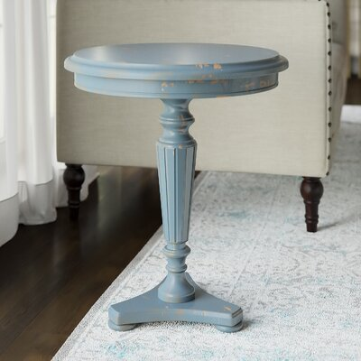 Lafontaine End Table Color: Distressed Blue