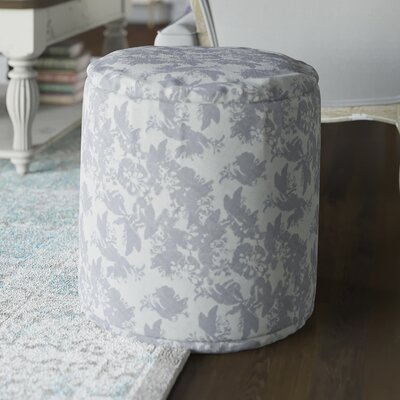 Barfleur Pouf Ottoman Upholstery: Gray