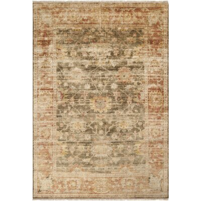 Talence Beige/Brown Oriental Area Rug Rug Size: 79 x 99