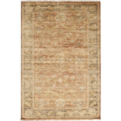 Talence Beige/Brown Area Rug Rug Size: 36 x 56