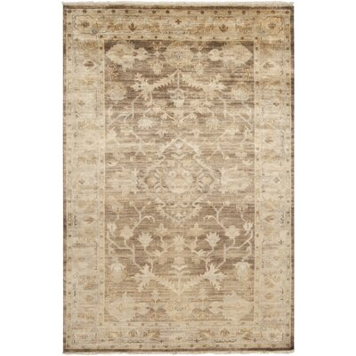 Talence Beige Floral Area Rug Rug Size: Rectangle 36 x 56
