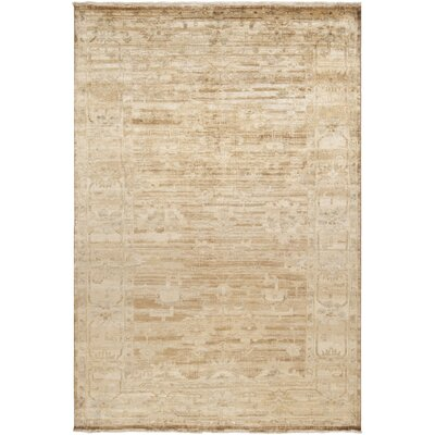 Talence Biscotti/Ivory Oriental Area Rug Rug Size: Rectangle 9 x 13